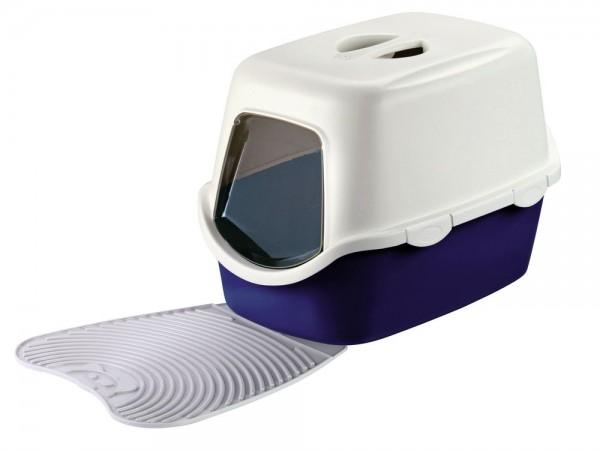 Abwaschbarer Toilettenvorleger grau