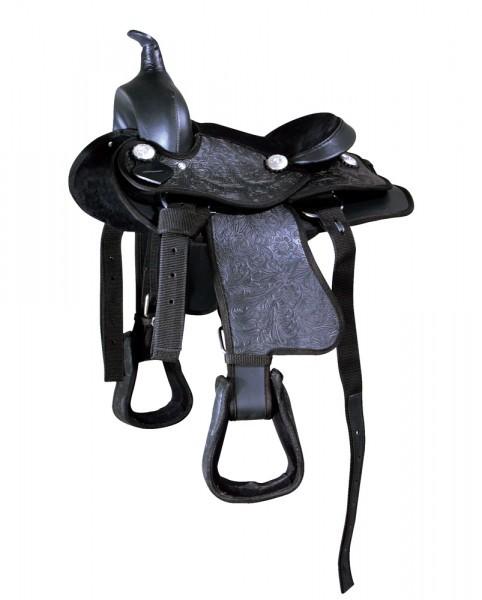 Westernsattel Black Bird für Shettys und Ponys