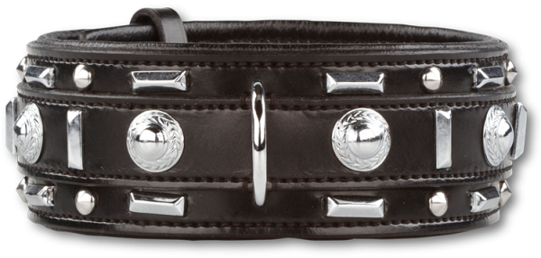 Lederhalsband Glorious Black 60 mm