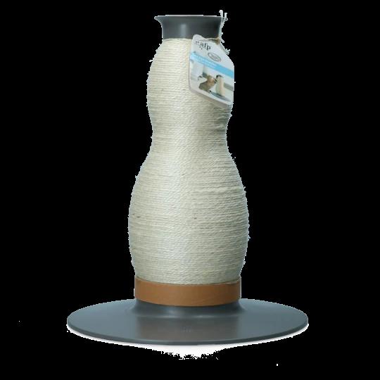 Design Kratzvase mit Seil aus Sisal und Maishülsen