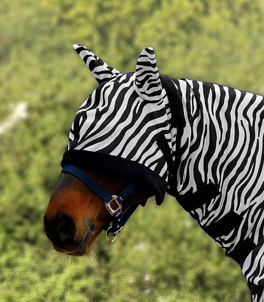 Waldhausen Fliegenmaske für Fliegendecke Zebra