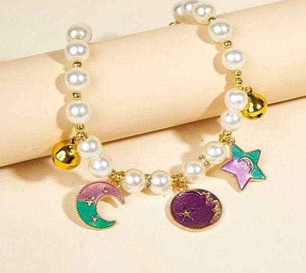 Halsband Halskette Mond und Sterne