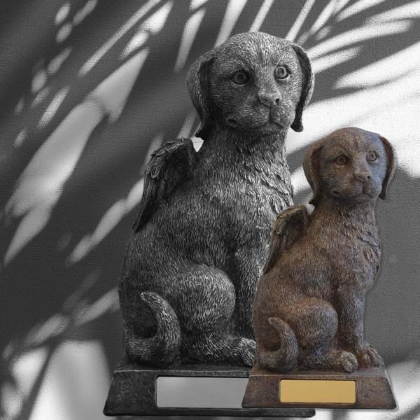 Tierurne Hundeurne Hund im Sitz