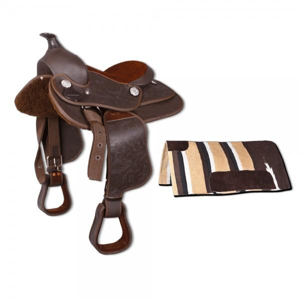 Westernsattel Brownie mit Pad oder Decke