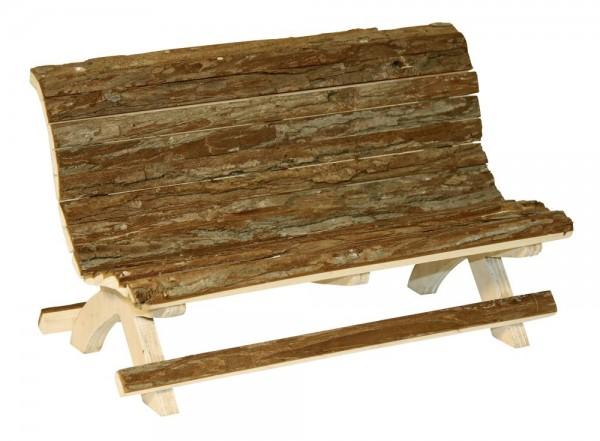 Holzbank Nature für Nager