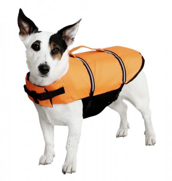 Orange Schwimmweste für Hunde