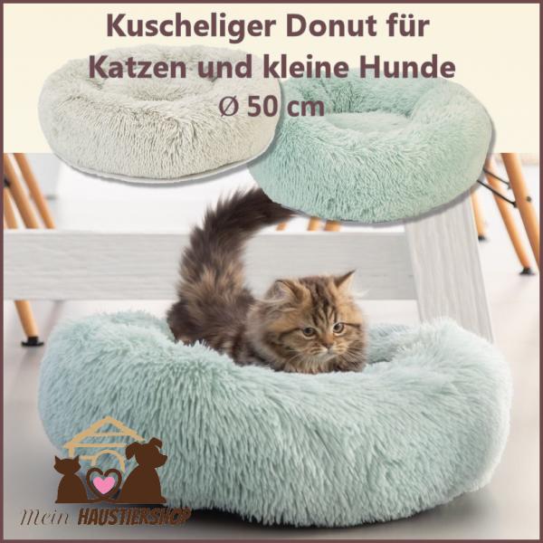 Plüschbett Donut für kleine Hunde und Katzen
