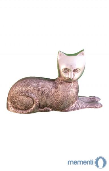 Mementi Silberne Katzenurne sitzend