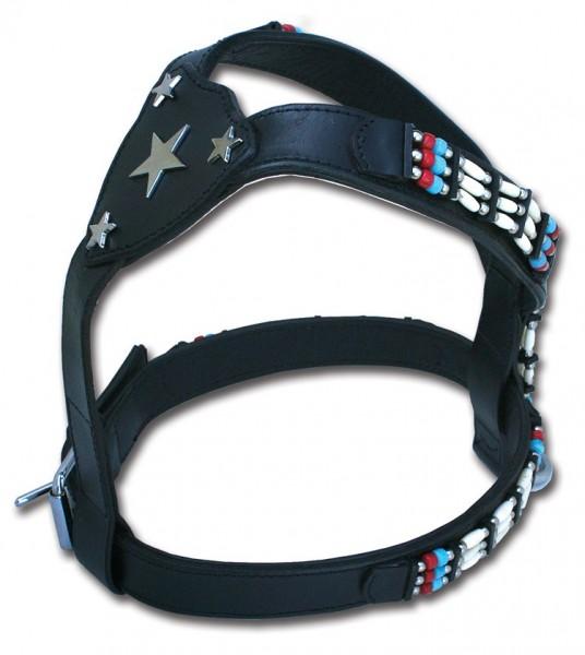Leder Hundegeschirr Cheyenne Star in the Sky