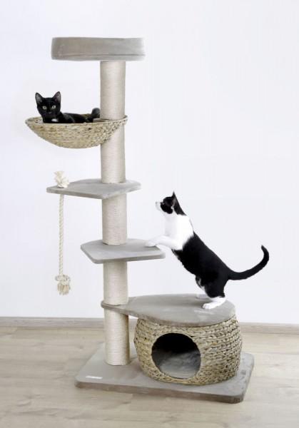 Kratzbaum Banana Leaf Tower für Katzen mit Liegeflächen und Höhle