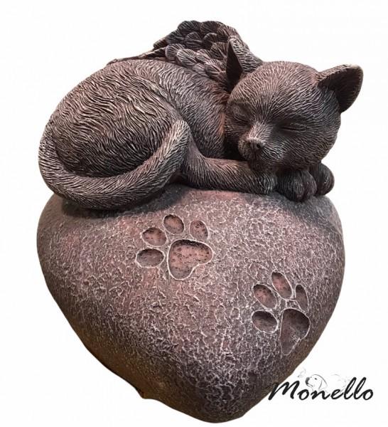 Monello Katzenurne Katze auf Herz