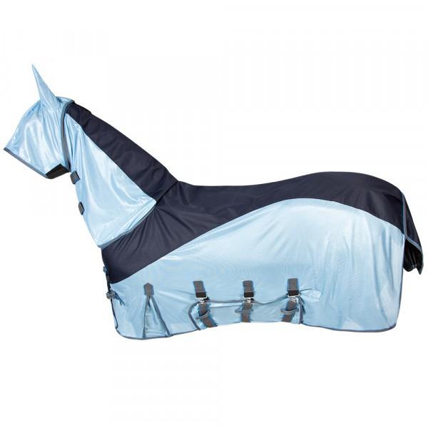 Fliegen- und Ekzemerdecke mit wasserdichtem Rückeneinsatz