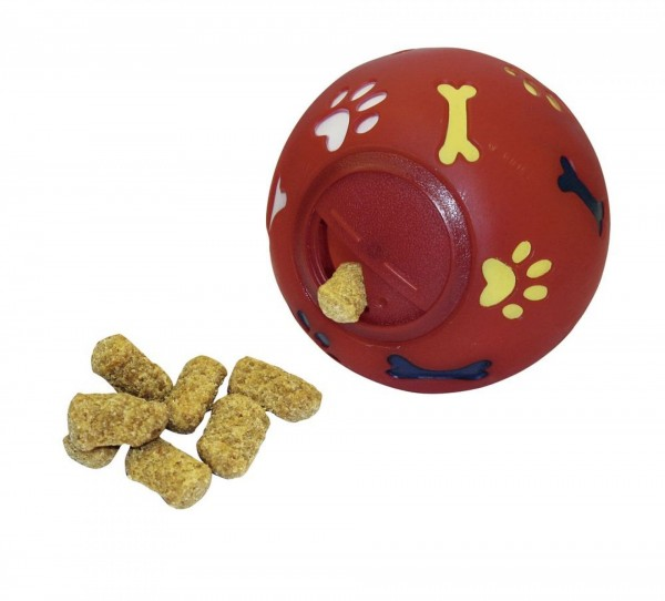 Roter Snackball für Leckerlis