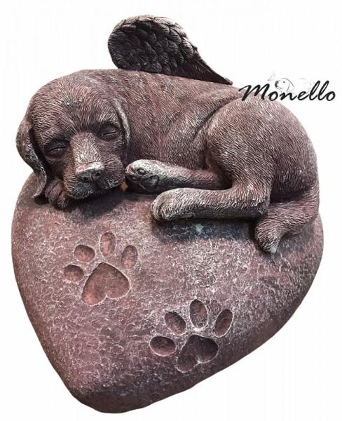 Monello Hundeurne Hund auf Herz Groß