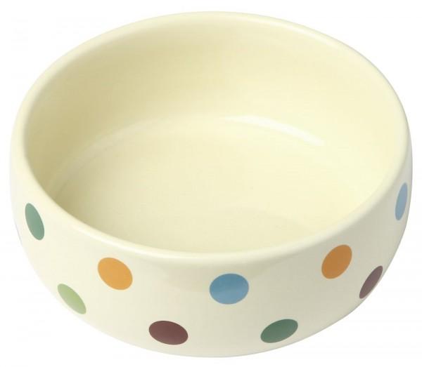 Keramiknapf Dots glasiert für Hunde
