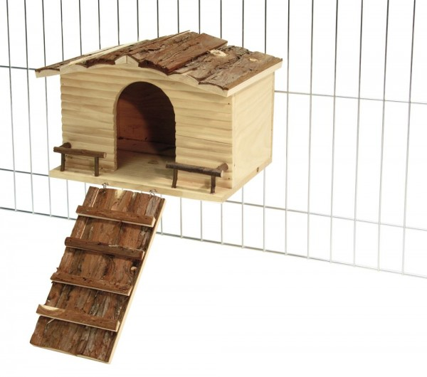 Nagerhaus mit Gitterbefestigung