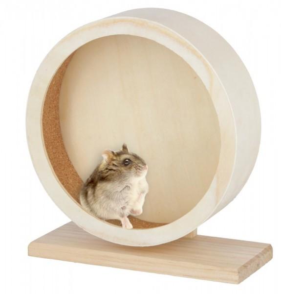 Hamsterlaufrad aus Holz mit Kork