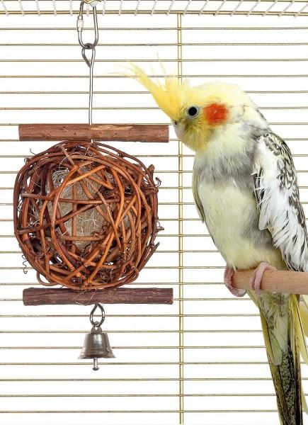 Vogelspielzeug Wooden Bird Ball